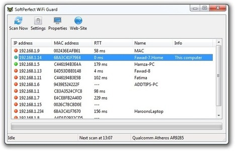 SoftPerfect WiFi Guard Protects Your Network Against WiFi Thieves | Geeks | Scoop.it
