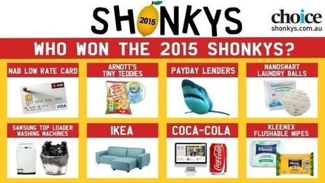 Samsung, Ikea, Coca-Cola, NAB and Kleenex head list of Choice Shonky Award winners for 2015 | MMK277 Marketing Management @ Deakin | Scoop.it