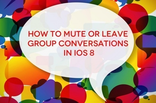 How to mute and get out of group texts in iOS 8