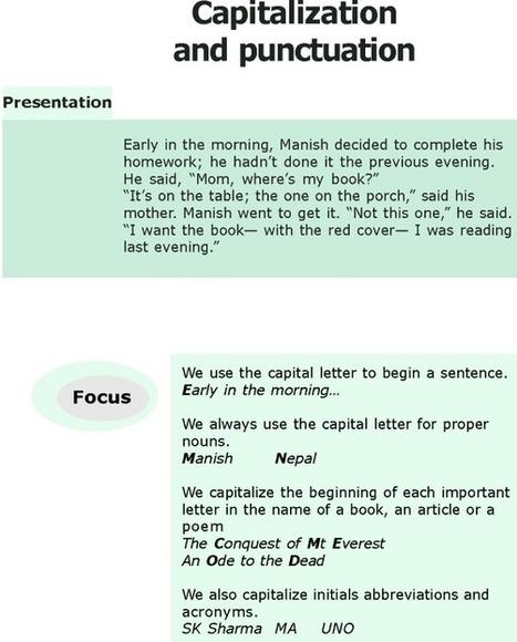 Grade 6 Grammar Lesson 17 Capitalization and punctuations - Good Grammar | English | Scoop.it