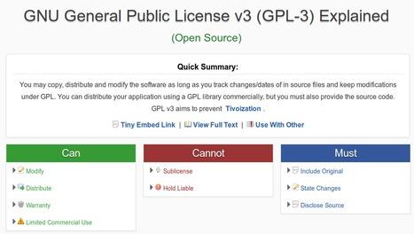 Comparer les licences libres avec TLDRlegal | Time to Learn | Scoop.it