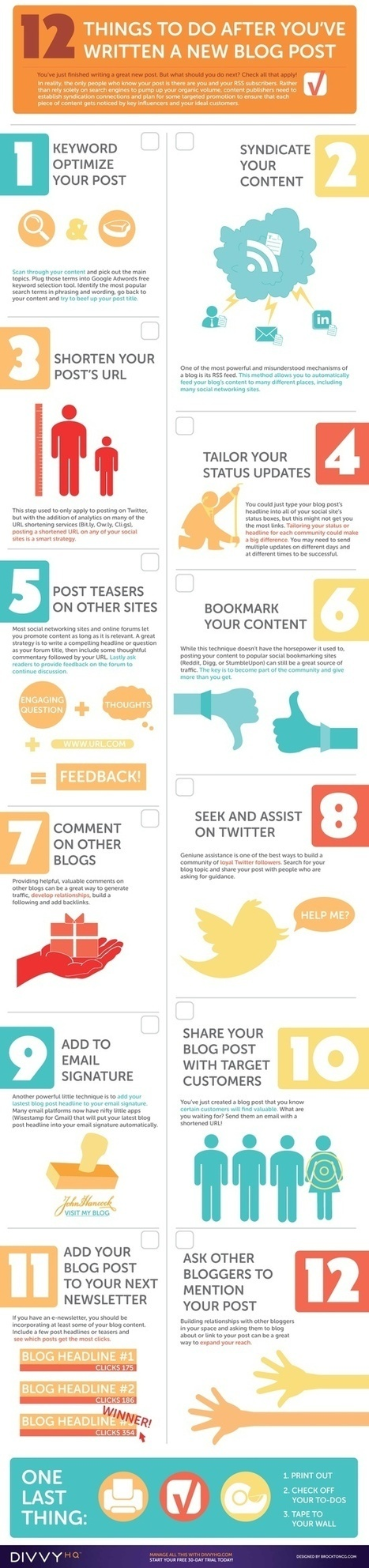 Infographie : Things to do after youve posted a new #blog post | Geeks | Scoop.it