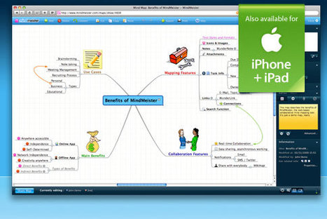 Online Mind Mapping and Brainstorming - MindMeister | RIA | Scoop.it