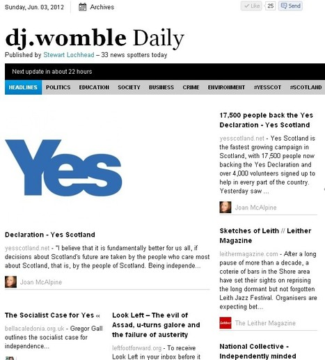 dj.womble Daily | YES for an Independent Scotland | Scoop.it