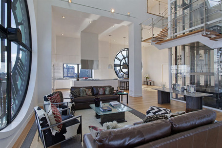 Triplex Penthouse Atop Brooklyn's Clock Tower | Interior Design from St. Catherine University | Scoop.it