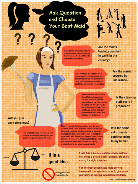 Ask Question and Choose to Best Maid Agency in Singapore   infographicsmaker   Scoop.it