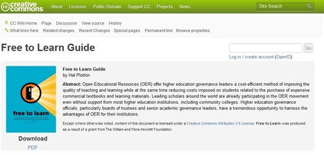 Free to Learn Guide - CC | OER | 21st Century Tools for Teaching-People and Learners | Scoop.it