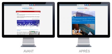 Nouveau template pour nos newsletters - Actualités - evolutiveWeb.com | Actus de l'agence, infos et conseils en e-communication et entrepreunariat | Scoop.it