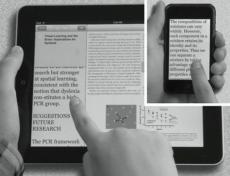 Using Mobile Screens To Make Reading Easier For Dyslexics | UDL & ICT in education | Scoop.it