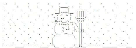 ascii art christmas snow man. Black Bedroom Furniture Sets. Home Design Ideas