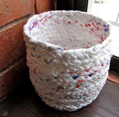 Hacer un Cesto con Bolsas de Plástico   Paz y bienestar interior para un Mundo Mejor   Scoop.it