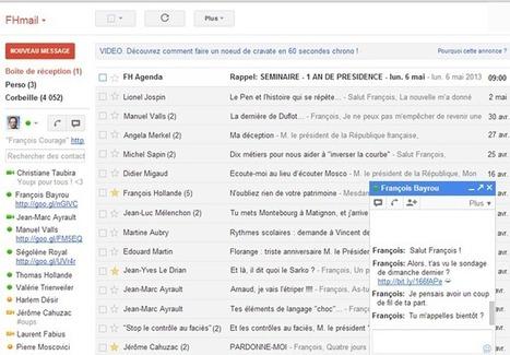 A voir ! France TV dévoile le Gmail fictif de François Hollande | Libertés Numériques | Scoop.it