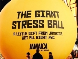 Jamaica Tourism's Giant Stress Ball in Times Square Helps New Yorkers Relax | Travel, Hospitality News and Trends | Scoop.it