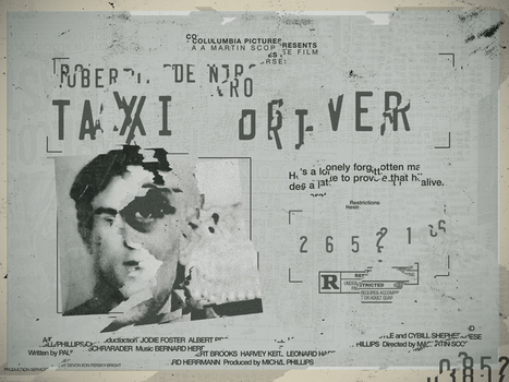 seekandspeak: Unused Taxi Driver poster made... | Cinephilia and Beyond | Scoop.it