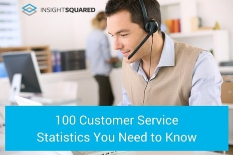 100 Customer Service Statistics You Need to Know | InsightSquared | Business Socialization | Scoop.it