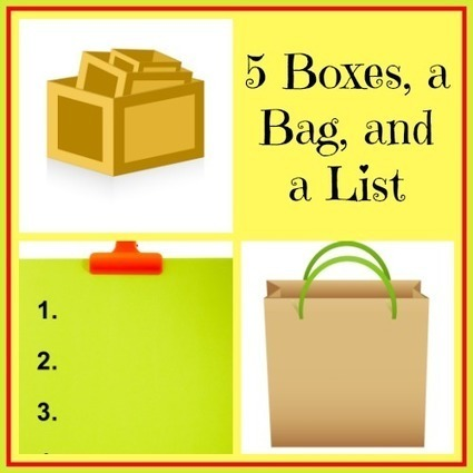 5 Boxes, a Bag and a List | Homemaking | Scoop.it