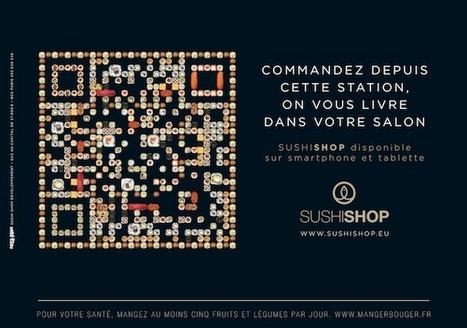 France : Les QR Codes de Sushi Shop à l'entrée du métro parisien | E-commerce, M-commerce : digital revolution | Scoop.it