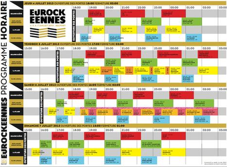 Eurockéennes : Le planning des Horaires en ligne   Médiathèque de Soultz   Scoop.it