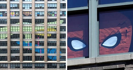 Post-It War Between Two Office Buildings Ends With Epic Finale | Street Art | Scoop.it