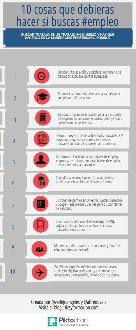 10 cosas que debieras hacer si buscas #empleo #infografia #infographic   Búsqueda de empleo   Scoop.it
