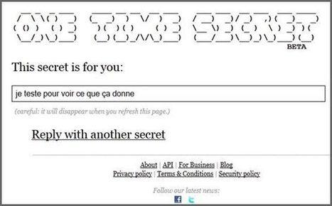 Envoyer des messages confidentiels qui s'auto-détruisent   Web & Internet   Scoop.it