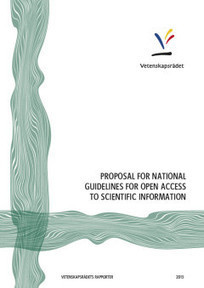 Proposal for National Guidelines for Open Access to Scientific Information - Swedish Research Council | Open is mightier | Scoop.it