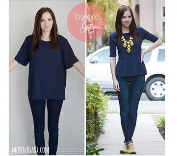 Tutorial: Peplum top refashioned from a boxy blouse - Sewing - Craft ... | Refashion | Scoop.it