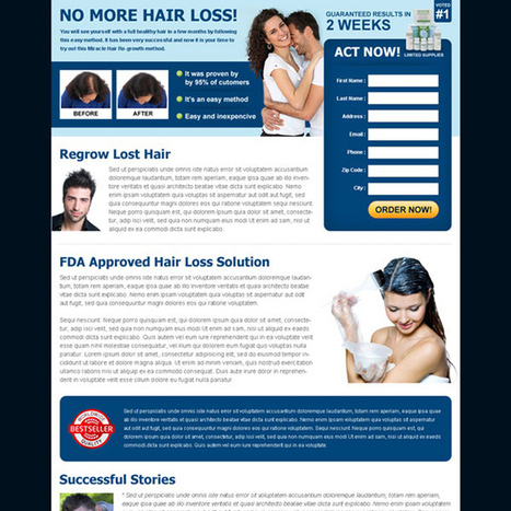 hair loss product landing page design templates to increase sale of your product | buy landing page design | Scoop.it