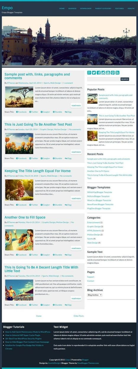 Templates | Blogger themes | Scoop.it