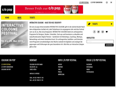 Interactive Cologne - Hack Tech Biz Creativity - c/o pop Festival   Web de Cologne   Scoop.it