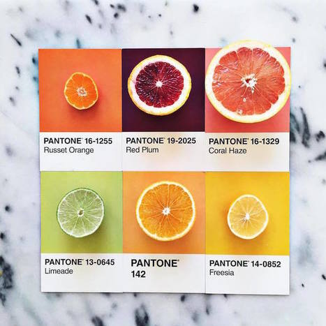 Designer Creatively Pairs Food with Their Pantone Swatch Colors | Communication design | Scoop.it