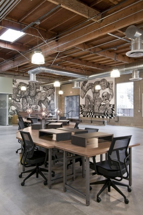 9 Inspirational Open Office Workspaces - Office Snapshots | Future of Organizations | Scoop.it