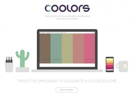 Coolors Is A New App That Quickly And Easily Generates Beautiful Color Palettes | Photography Stuff For You | Scoop.it
