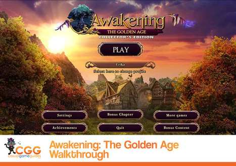 Awakening: The Golden Age Walkthrough: From CasualGameGuides.com | Casual Game Walkthroughs | Scoop.it