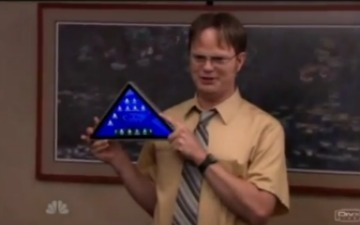 Dunder Mifflin Also Releases a Tablet -- And It's a Triangle [VIDEO] | Prozac Moments | Scoop.it