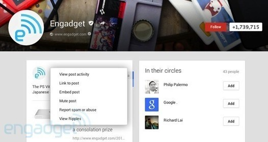 Google+ adds embedded posts and expands authors...
