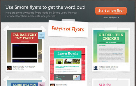 Smore - Design beautiful online flyers and publish instantly | Education Technology @ NWR7 | Scoop.it