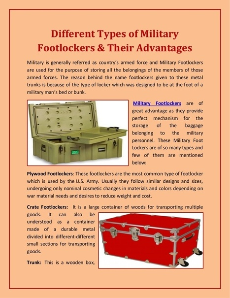 Different types of military footlockers & their advantages | Quality Trunks, Footlockers and Luggage | Scoop.it