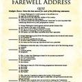 George Washington's Farewell Address Quiz - UnCommon Core | Common Core ELA Standards Curriculum Grades 6-12 | Scoop.it
