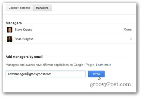 How To Add an Admin or Manager to a Google+ Page | Time to Learn | Scoop.it