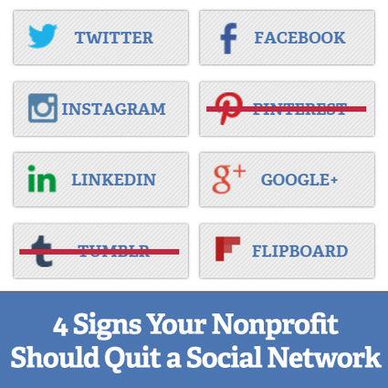 4 Signs Your Nonprofit Should Quit a Social Network | Social Media & sociaal-cultureel werk | Scoop.it
