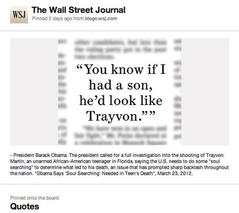 How The Wall Street Journal Uses Pinterest - 10,000 Words | Everything from Social Media to F1 to Photography to Anything Interesting | Scoop.it