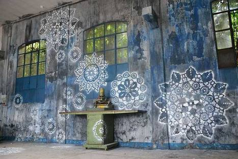 NeSpoon, mural   Art Installations, Sculpture, Contemporary Art   Scoop.it