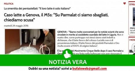NOTIZIA VERA M5S Su Parmalat e Latte cinese ci siamo sbagliati, chiediamo scusa - bufale.net | Appunti | Scoop.it