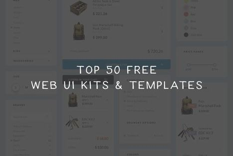 Top 50 Free Web UI Kits & Templates 2016 | Veille perso | Scoop.it