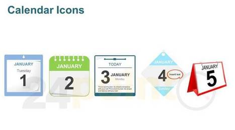 Calendar Icons : PowerPoint Graphics | PowerPoint - Maps, Templates, Diagrams, Illustrations and more! | Scoop.it