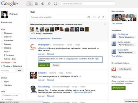 Intégrer Twitter à Google+ avec G+ Twitter   Fredzone   Méli-mélo de Melodie68   Scoop.it