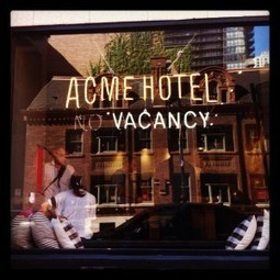 New Chicago Hotel... with a chic, hip and edgy style. ACME Hotel Company | Social Media in the Hospitality Industry | Scoop.it