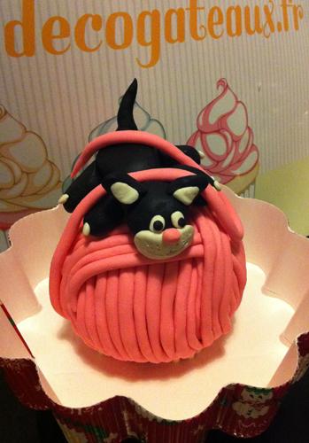 Adorable Petit gâteaux 3D en pâte à sucre, pelote le chat | FRENCH and much more... | Scoop.it