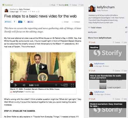 4 ways journalism educators are using Storify as a teaching tool | Poynter. | Content Curation for Teen Librarians | Scoop.it